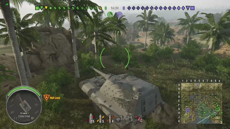 Tiger I playing World of Tanks: SummerSlam